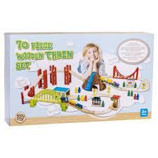 70 pieces wooden train set kmart hugh gift ideas xmas bday