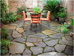 Flagstone Patio Installation Backyards Gorgeous Outdoor Small Backyard Landscaping Ideas With
