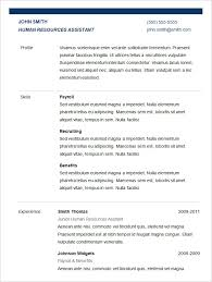 Resume Sample For Hr by Basic Resume Template U2013 51 Free Samples Examples Format