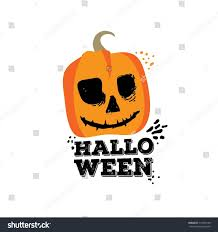 happy halloween party title logo template stock vector 511045168