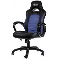 nitro concepts c80 pure gaming stuhl schwarz blau