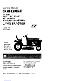 craftsman ez3 917 270711 lawn mower manual