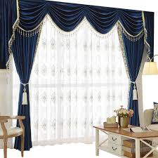 Royal Blue Curtains Shop Helen Curtain Set Luxury Velvet Royalblue Curtains For