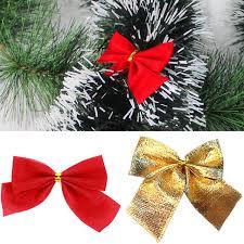 bags of christmas bows online shop 12pcs bag christmas bows christmas tree decorations