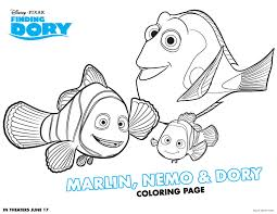 finding dory movie coloring and activity sheet printables