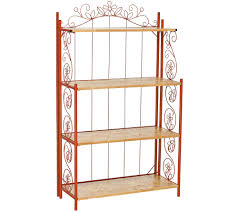 Cheap Bakers Rack Temp Tations Collapsible Bakers Rack W Wooden Shelves Page 1
