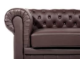 tufted leather sofa brown chesterfield beliani com