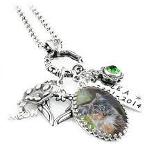 cat jewelry necklace images Cat photo cat jewelry personalized necklace memorial jewelry jpg