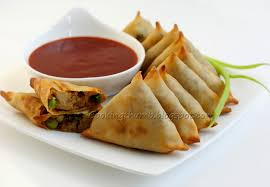roll sheets baked samosa maybe use large egg roll sheets instead of wonton