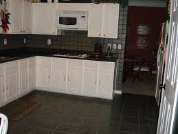 Kitchen Tile Floor Designs by Exellent White Kitchen Dark Tile Floors Cabinets Floor Black And