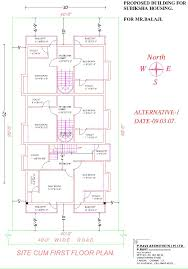 600 Square Foot House Small House Plan Sq Ft Admirable Fp Vijayanagar Saiprasad02b Plans