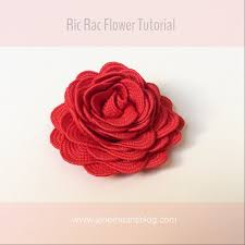 ric rac ribbon make ric rac flowers diy craft project means