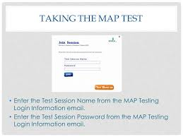map login taking the map test ppt