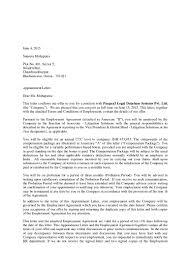 Is A Job Offer Letter Legally Binding by Tr Offer Letter Suneeta Mohapatra