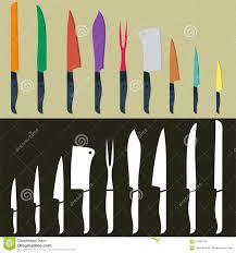 Colored Kitchen Knives Set Of Kitchen Knife Flat Design Stock Vector Image 67581915