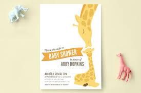 baby shower giraffe lovely giraffe baby shower invitations by s minted