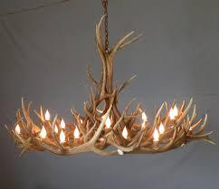 lighting elk antler chandelier for inspiring unique lighting