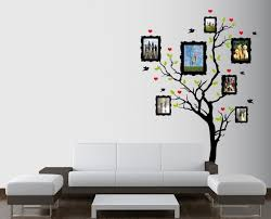 wall interior designs for home simple tree decal wall mural design decoration with white color on