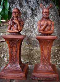 spiritual statues celtic god goddess statues from the guiding tree