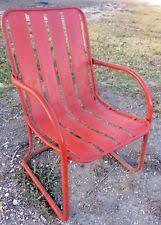 Old Metal Patio Furniture Metal Lawn Chair Ebay