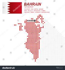 Map Of Bahrain Dot Style Bahraini Map Flag On Stock Vector 482611522 Shutterstock