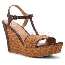 ugg platform sandals sale ugg australia fitchie chocolate leather sandals s platform