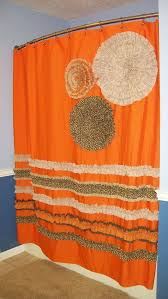 Brown Floral Shower Curtain Orange Floral Shower Curtain Showers Flowers Floral Shower