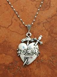catholic gift stores sterling silver filigree heart on sterling silver chain