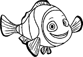 finding nemo marlin smile coloring pages kids din printable