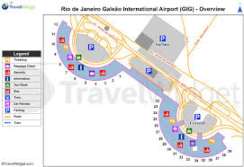 Charlotte Airport Gate Map Galeão Airport Terminal Map Map Of Galeão Airport Terminal Brésil