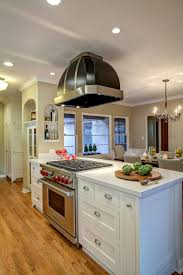 stove in island kitchens kitchen black golden island kitchen hood with white finish