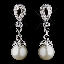 drop pearl earrings stunning silver ivory drop pearl wedding earrings bridal