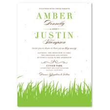 green wedding invitations plantable wedding invitations seeded paper invitations seed