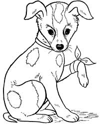 how to draw a dog coloring page color luna