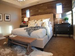 Guest Room With Twin Beds by Bedroom Rustic Bedroom Ideas Gold Desk Lamp Gray Accent Wall