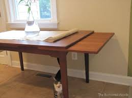 table with slide out leaves our long awaited mid century dining table a reader question