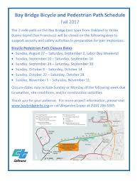 Bart Schedule And Map by Bicycle And Pedestrian Path Bay Bridge Info