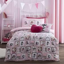 fluffy friends pink duvet cover set dunelm
