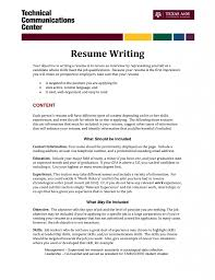 Resume How To Write Objective Download Writing Resume Objective Haadyaooverbayresort Com