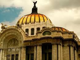 The Opulence Palace Of Fine Arts Mexico City Afar