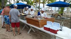 outdoor seafood buffet picture of friendly vallarta all