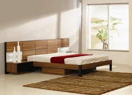 incredible platform beds with floating nightstands teak king size