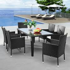 white outdoor wicker dining set u2013 outdoor decorations