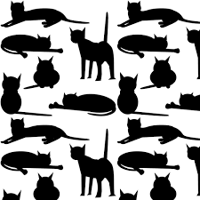 cat wrapping paper free cat images free digital cat pattern black and white