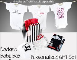 badass baby box add to any order to make it a gift set