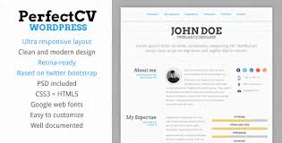 Resume Web Template 16 Resume Wordpress Themes For Personal Websites With Cv