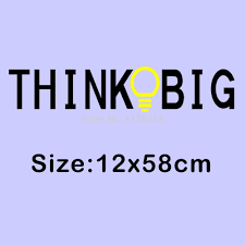 online shop vinyl wall stickers quotes think big removable
