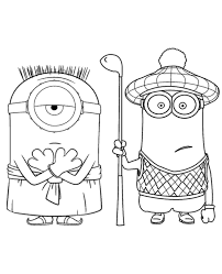 minions colouring pages 30 print color free