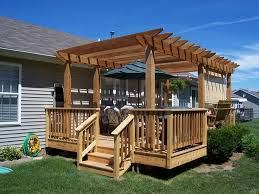 Backyard Deck Plans Pictures by Image Of Pergola On Deck Designs Home Improvement Pinterest