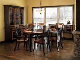 Amish Dining Room Set Eye Catching Amish Dining Table With Solid Top Of Room